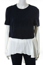 Alexander McQueen Multi-Color Stretch Knit High Low Blouse Size 44