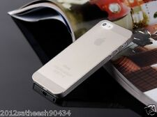 "0.29mm Ultra thin matte Case cover for iPhone 5 5S Translucent slim Soft ""Gray"""