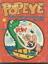 VINTAGE POPEYE, GHOST SHIP TO TREAS ISLAND - HARD COVER - A BIG LITTLE BOOK