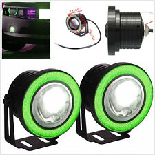 2X 2.5'' Angel Eye COB LED Car Driving DRL Fog Light Daytime Running Lamps Green