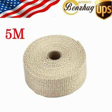 5M Racing Fiberglass Heat Exhaust Header Pipe Wrap Insulation Cloth Fireproof