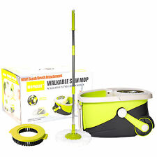 MOPNADO® - Walkable Deluxe Spin Mop, Green / Black House Cleaning Cleaner Goods