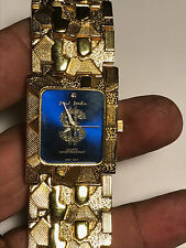 Nice Men's Blue Face Paul Jardin Gold Nugget Design Analog Watch