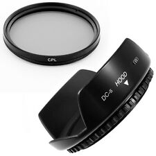 58mm Lens Hood Flower Wide Petal,CPL Filter for Canon EF 50mm f/1.8 II NEW USA