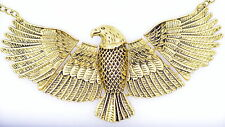 Vintage Art Deco style large soaring eagle bird necklace
