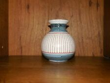 Elle Pottery of Norway Studio Art Pottery Bud Vase MCM Signed & Numbered 4""