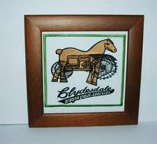 New Embroidered cloth badge /panel  - Clydesdale argricultural tractors - framed