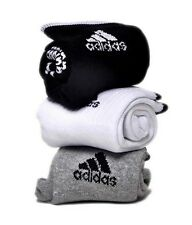 Sports ankle length adidas logo cotton towel socks (Pack of 3 pairs)