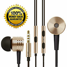 Gold Xiaomi Style Earphones / Headphone / Earbuds + Mic Remote + Volume Control