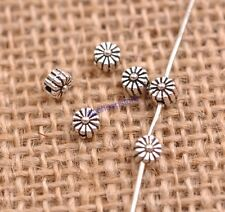 100PCS Tibetan Silver Spacer beads Flowers Bead Caps Findings 8MM JK3115