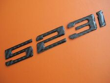Real Carbon Fiber Trunk Letter Emblem Badge for BMW 523i E39 E60 F10