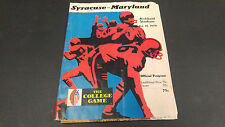 October 10 1970 Syracuse vs Maryland Football Program