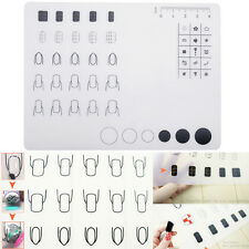 Beauty Nail Art Work Space Transfer Polish Mat Pad Stamping Silicone Table Cover