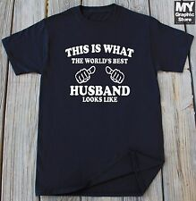 Husband T-shirt This is What The World's Best Husband Looks Like Anniversay Gift