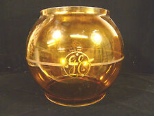 RARE & BEAUTIFUL LARGE ANTIQUE GE GENERAL ELECTRIC AMBER LIGHT GLOBE CIRCA 1895