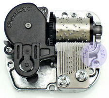 """Play """"Canon in D Major"""" Silver Plated Sankyo Musical Movement for DIY Music Box"""