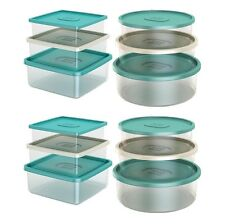 Life Story Nested Classic Airtight Round Square Food Storage Containers, 2 Pack