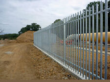 GALVANISED STEEL PALISADE FENCING - BRAND NEW - 2.4m HIGH (8ft)