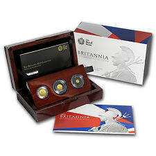 2015 Great Britain 3-Coin Gold Proof Set - SKU #91893