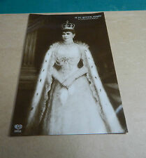 H.M.King Queen Mary  in coronation robes  sepia unposted  Art