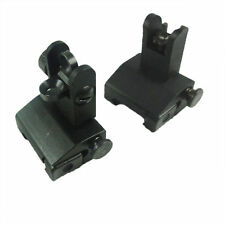 USA Heavy Duty Iron Flip Up / Fold Down Front & Rear Back up Sight Set a2 223