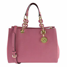 NWT Michael Kors Cynthia MD Satchel Leather in Tulip $348