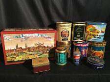 konvolut alte blechdosen/ Tee Nürnberger Lebkuchen Zigaretten/Cigarren Nivea