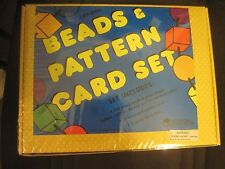 Brand New (Still in Plastic Wrap) Learning Resources Beads and Pattern Card Set