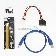 USB 3.0 PCI-E Express 1x To 16x Extender Riser Card Adapter Power Cable Mining