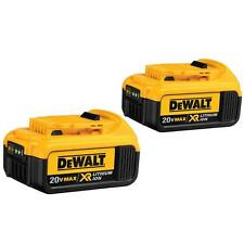 DEWALT DCB204-2 20V MAX Premium XR Li-Ion 4.0 Ah Cordless Tool Battery (2 Pack)