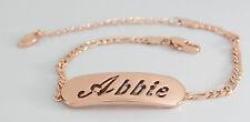 ABBIE - Bracelet With Name - 18ct Rose Gold Plated - Gifts For Her