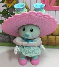 Vintage Tea Bunnies Bunny Me Tea Party Pansy Parfait Blue Rabbit Dress Hat
