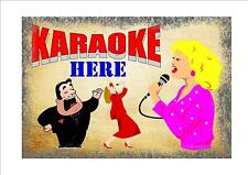 Karaoke  Sign Bar Room Sign Pub Sign House Sign House Rules Party Night