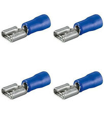 50 Flachsteckhülsen blau Steckmaß 6,3 für Kfz +++