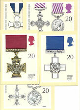 GREAT BRITAIN - MILITARY MEDALS - POST CARD PHQ129 -  SET  OF 5 - 1990