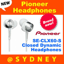 BNIB Pioneer SE-CLX60-S Closed Dynamic Headphones with Flex Nozzle