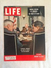 Cover Only - Life Magazine - January 1954 - Saltonstall, Knowland and Nixon.