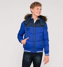 C&A Palomino Boys Quilted Down Padded Jacket  Fur Hood Size 92 Age 2 Box1512 d