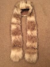 ONE SIZE PALE GREY/WHITE MIX FAUX FUR HOODED SCARF TOWIE/WINTER RRP £45