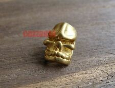 2pcs Skull pure brass 4.5mm hole Lanyard Bead Parachute Cord Paracord Knife Tool