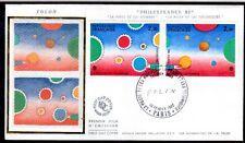 FRANCE FDC - 2199 2200 1 TABLEAU FOLON 1982 PHILEXFRANCE sur soie