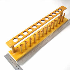 Wooden Test Tube Rack 12 Holes and 12 Pins Holder Support Burette Stand 428 lx