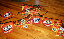 NEW! Miller Lite & MGD Beer HALLOWEEN Flag Banner, Man Cave Pennant 60 FEET LONG