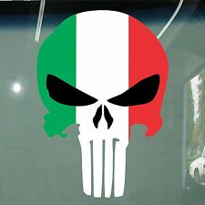 Italian Flag Punisher Design Stickers Car Vinyl Decals JDM