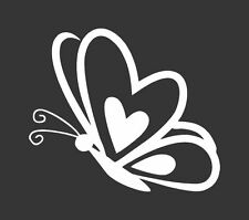 Butterfly Heart - Die Cut Vinyl Window Decal/Sticker for Car/Truck