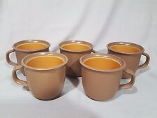Dansk Bistro BLT Pottery Orange/Brown Mug - Set of 5 - MINT
