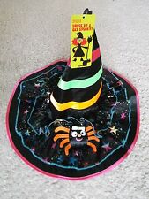 Girls's M&S Deluxe Witch's Hat Ideal For Halloween  One Size  Top Quality  BNWT