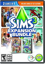 Sims 3: Expansion Bundle (PC/MAC GAMES) World Adventure & Generations