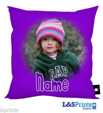PERSONALISED PICTURE NAME KIDS PHOTO CUSHION GIFT