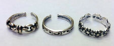 LOT OF 3 STERLING SILVER TOE RING MADE IN USA